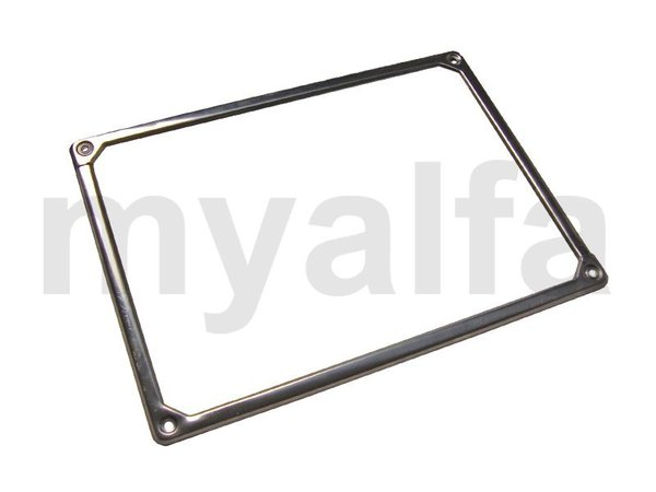 REAR NUMBER PLATE FRAME GIULIA /GT BERTONE STAINLESS STEEL