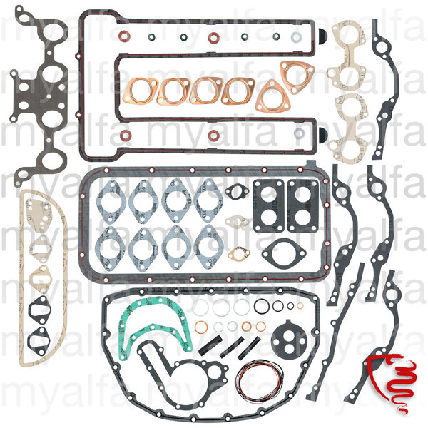 ENGINE GASKET SET WITHOUT HEAD GASKET AND O-RINGS 1300/1600  >1968
