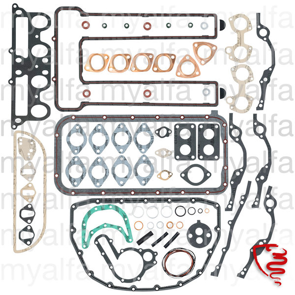 ENGINE GASKET SET WITHOUT HEAD GASKET AND O-RINGS 1969-82