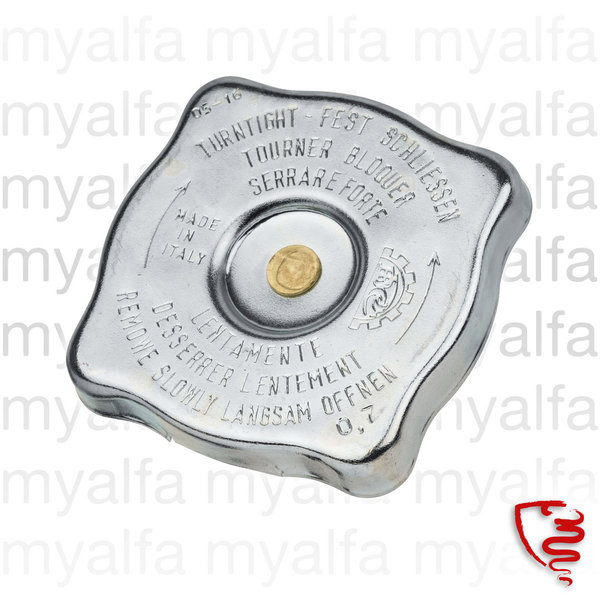 RADIATOR CAP SQUARE TYPE MODELS WITH EXPANSION TANK