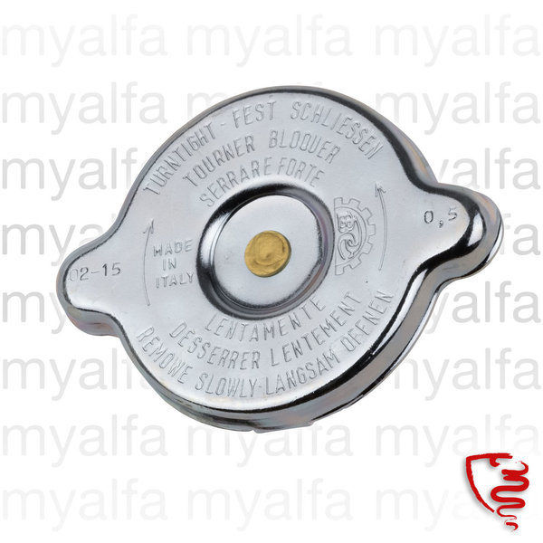 RADIATOR CAP ROUND TYPE MODELS WITHOUT EXPANSION TANK