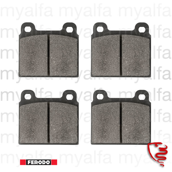 BRAKE PADS 1300/1600 1964-85 FRONT, OEM QUALITY