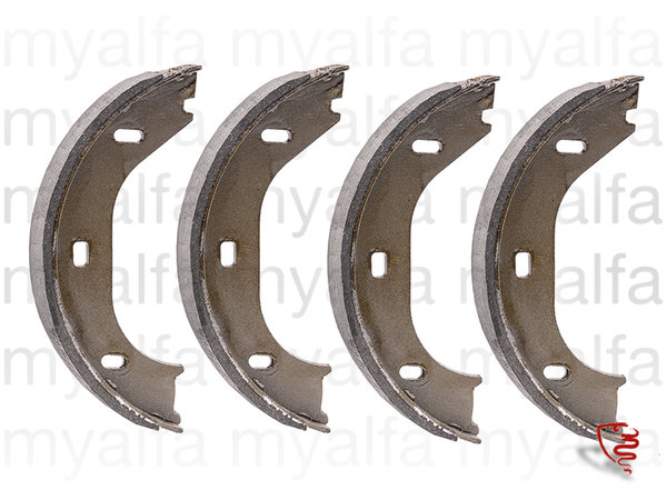 SET BRAKE SHOES 4 PIECES