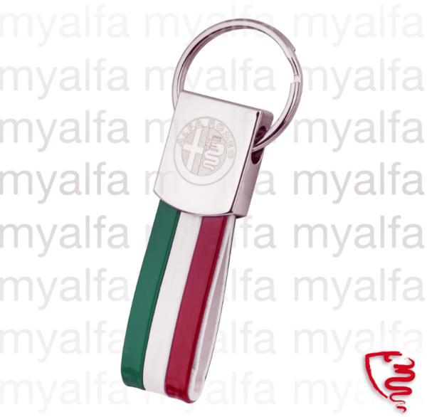 KEY RING CHROME STEEL WITH    EMBLEM AND TRICOLORE
