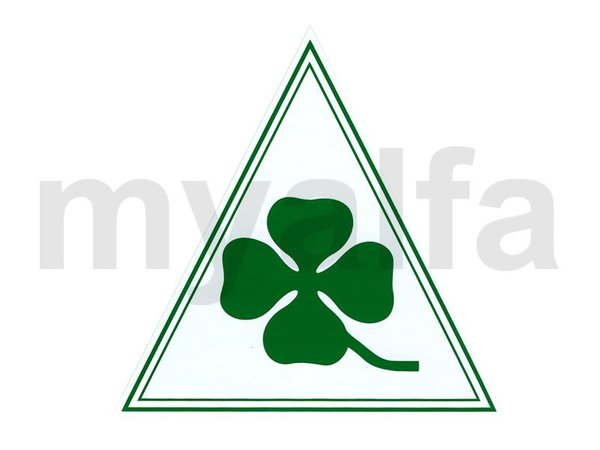 STICKER CLOVER LEAF ON WHITE  TRIANGLE 160 x 170 mm