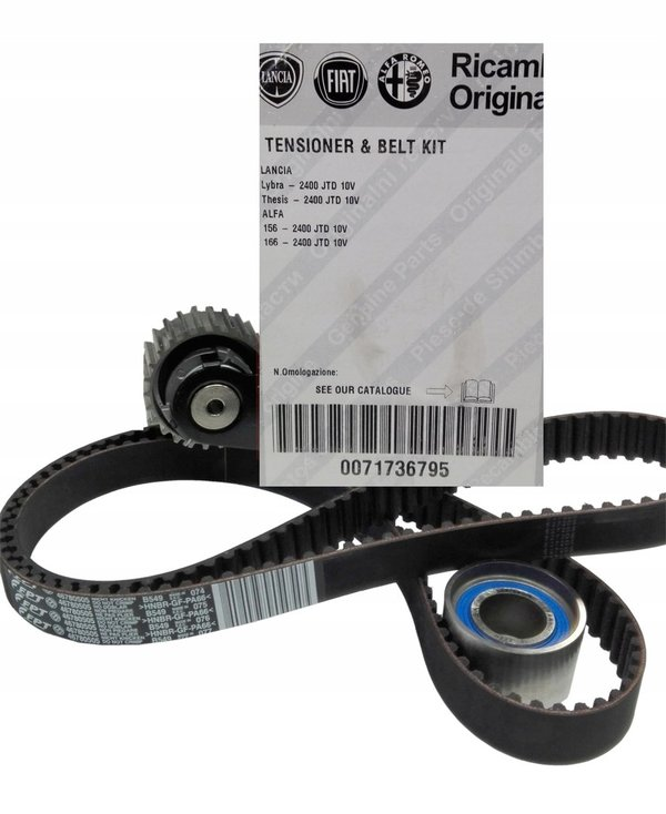 Timing belt kit Alfa 156, 166 2.4 JTD 10V